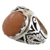 انگشتر نقره اپال و برلیان اصل ارزشمند مردانه