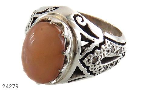 انگشتر نقره اپال و برلیان اصل ارزشمند مردانه دست ساز - 24279