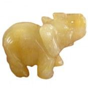 تندیس سیترین طرح فیل جذاب