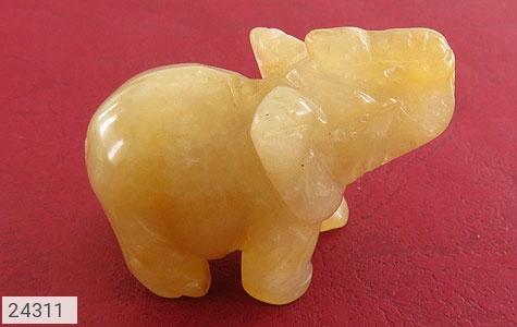 تندیس سیترین طرح فیل جذاب - 24311
