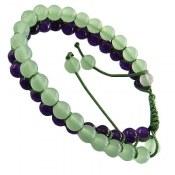 دستبند جید دو رشته ای زیبا زنانه