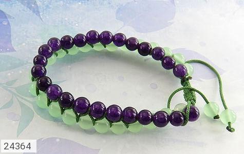 دستبند جید دو رشته ای زیبا زنانه - 24364