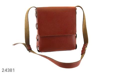 کیف چرم طبیعی دوشی اسپرت قهوه ای - 24381
