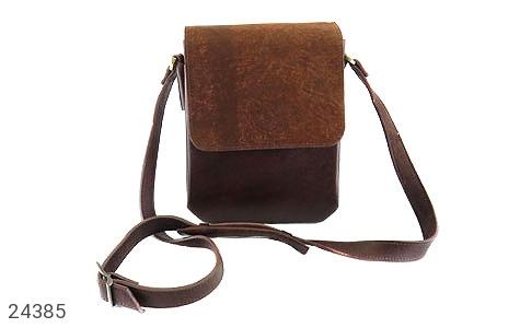 کیف چرم طبیعی دوشی اسپرت دو رنگ - 24385