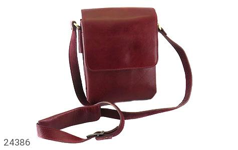 کیف چرم طبیعی دوشی اسپرت زرشکی - 24386