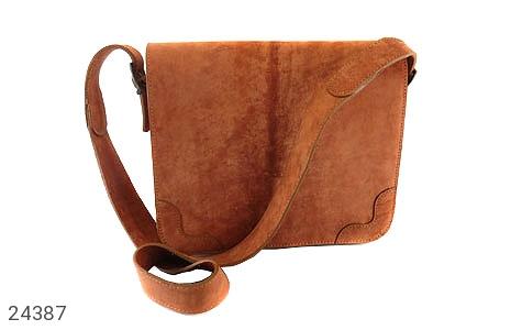 کیف چرم طبیعی قهوه ای جذاب طرح دوشی - 24387