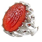 انگشتر نقره عقیق قرمز حکاکی یا زینب کبری مردانه