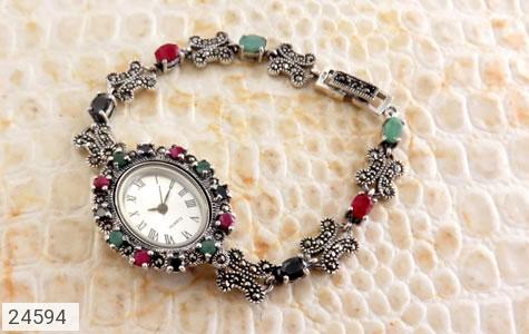 عکس ساعت کوارتز زمرد یاقوت سرخ و کبود اشرافی زنانه quartz