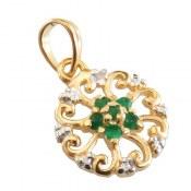 مدال نقره زمرد و برلیان مانی طرح پرنسس زنانه