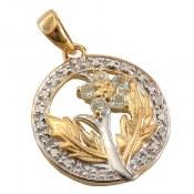 مدال توپاز و برلیان مانی طرح پارمیس زنانه