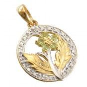 مدال زبرجد و برلیان مانی طرح نازگل زنانه