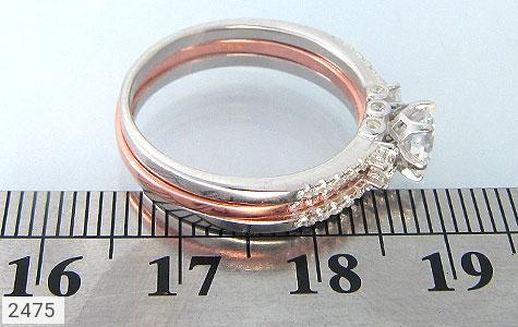 عکس انگشتر نقره حلقه و پشت حلقه ای زنانه