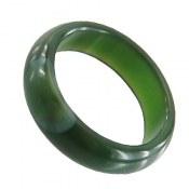 انگشتر عقیق سبز حلقه سنگی