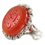 انگشتر نقره عقیق یمن درشت حکاکی یا باب الحوائج مردانه