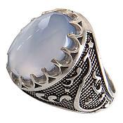 انگشتر نقره عقیق یمن الماس تراش مردانه