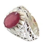 انگشتر نقره یاقوت سرخ جذاب مردانه