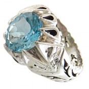انگشتر نقره توپاز سوئیس طرح شاهزاده مردانه