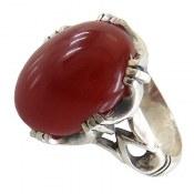 انگشتر عقیق قرمز طرح اسپرت مردانه
