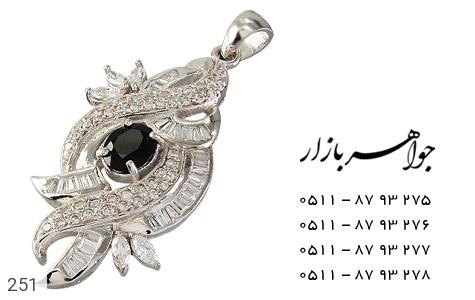 عکس مدال نقره تـایلنـدی درشت طرح یاقوت زنانه