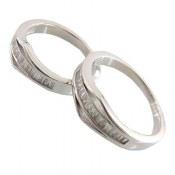 حلقه ازدواج نقره طرح نازنین
