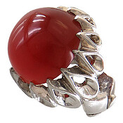 انگشتر عقیق قرمز درشت طرح سلطنتی مردانه