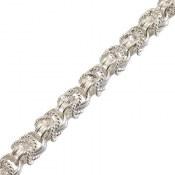 زنجیر نقره طرح پرنسسی 66 سانتی زنانه