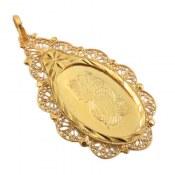 مدال نقره اونس طرح طلای قدیمی درشت زنانه