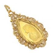 مدال نقره اونس طرح اشکی درشت زنانه