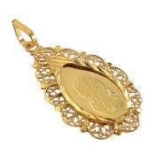 مدال نقره اونس طرح طلای اشکی زنانه