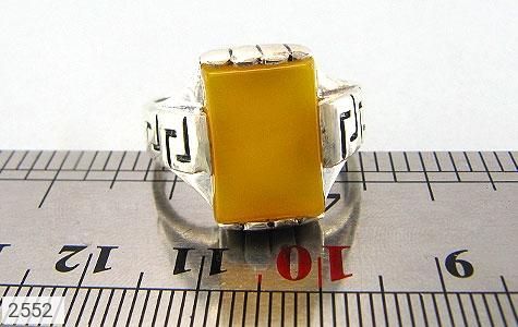 عکس انگشتر نقره عقیق شرف الشمس طرح ورساچه