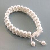دستبند مروارید سنتاتیک دو ر شته ای زنانه