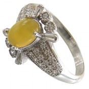 انگشتر عقیق زرد شرف الشمس طرح نازگل زنانه