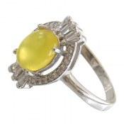 انگشتر عقیق زرد شرف الشمس طرح شمیم زنانه
