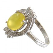 انگشتر نقره عقیق زرد شرف الشمس طرح شمیم زنانه