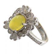 انگشتر نقره عقیق زرد شرف الشمس طرح شادی زنانه