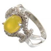 انگشتر عقیق زرد شرف الشمس طرح غزاله زنانه