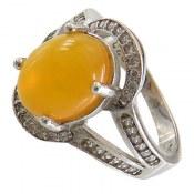 انگشتر عقیق زرد شرف الشمس طرح مانا زنانه