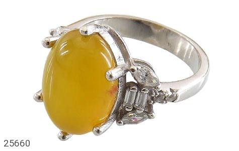 عکس انگشتر عقیق زرد شرف الشمس طرح شبنم زنانه