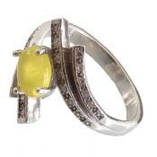 انگشتر عقیق زرد شرف الشمس طرح ماریا زنانه