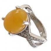 انگشتر عقیق زرد شرف الشمس طرح مژگان زنانه