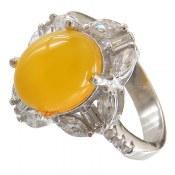 انگشتر عقیق زرد شرف الشمس طرح نازنین زنانه