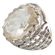 انگشتر نقره در نجف الماس تراش شاهانه رکاب طرح ضریح مردانه
