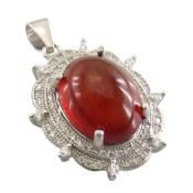 مدال یاقوت گارنت طرح پرنسس زنانه