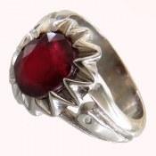 انگشتر نقره یاقوت سرخ مرغوب خوش رنگ زنانه