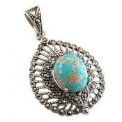 مدال فیروزه نیشابوری خوش نقش طرح مهرناز زنانه