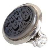 انگشتر نقره عقیق یمنی درشت حکاکی ان الله بالغ امره مردانه