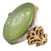انگشتر نقره عقیق خوش رنگ و درشت حکاکی و ان یکاد مردانه