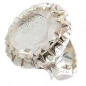انگشتر در نجف الماس تراش حکاکی و من یتق الله کم نظیر مردانه