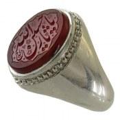 انگشتر نقره عقیق یمن حکاکی فاخر یا حسین ثارالله مردانه