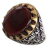 انگشتر نقره عقیق رکاب یا ابوفاضل ع مردانه